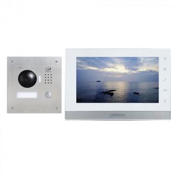 Комплект IP-домофонии Dahua DHI-VTK-VTO2000A-VTH1550CH (S)